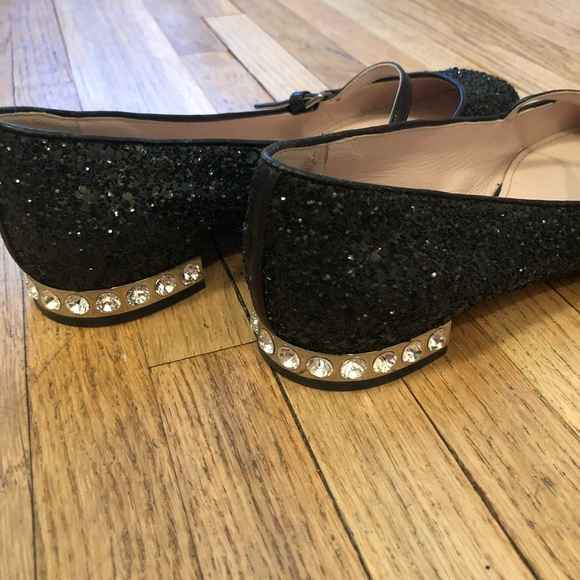 e392596ce7b8 Miumiu Glitter Mary Jane. M 5b4278d1035cf1fa873b7b61. Other Shoes you may  like. Miu Miu Denim Embellished Ballet Flats Shoes
